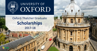 Oxford-Qatar-Thatcher Graduate Scholarship and the Oxford-Thatcher Graduate Scholarships 2017