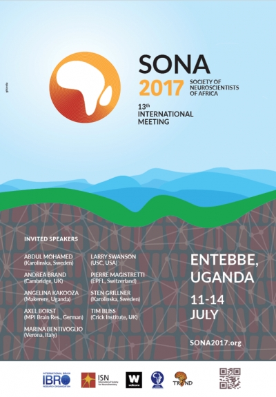 SOCIETY OF NEUROSCIENTISTS OF AFRICA 13TH INTERNATIONAL MEETING, JUNE 11-14TH 2017, ENTEBBE, UGANDA